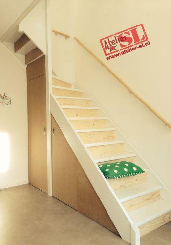 Open trap dicht gemaakt en trapkast - Hoe dicht een open keuken ...