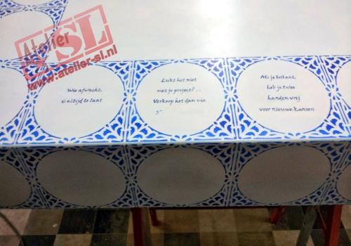 Tegel Delfts Blauw : Collectie items delft blauw sierschotels vaas