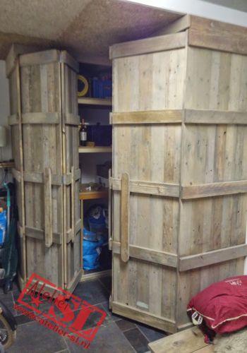 Steigerhout Kast Met Open Vouwdeuren